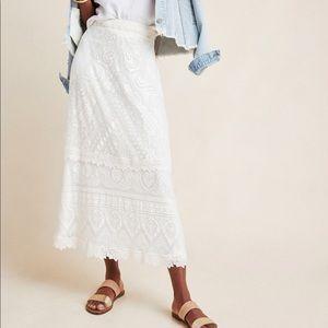Anthropologie Farm Rio Stacie Maxi Skirt size M